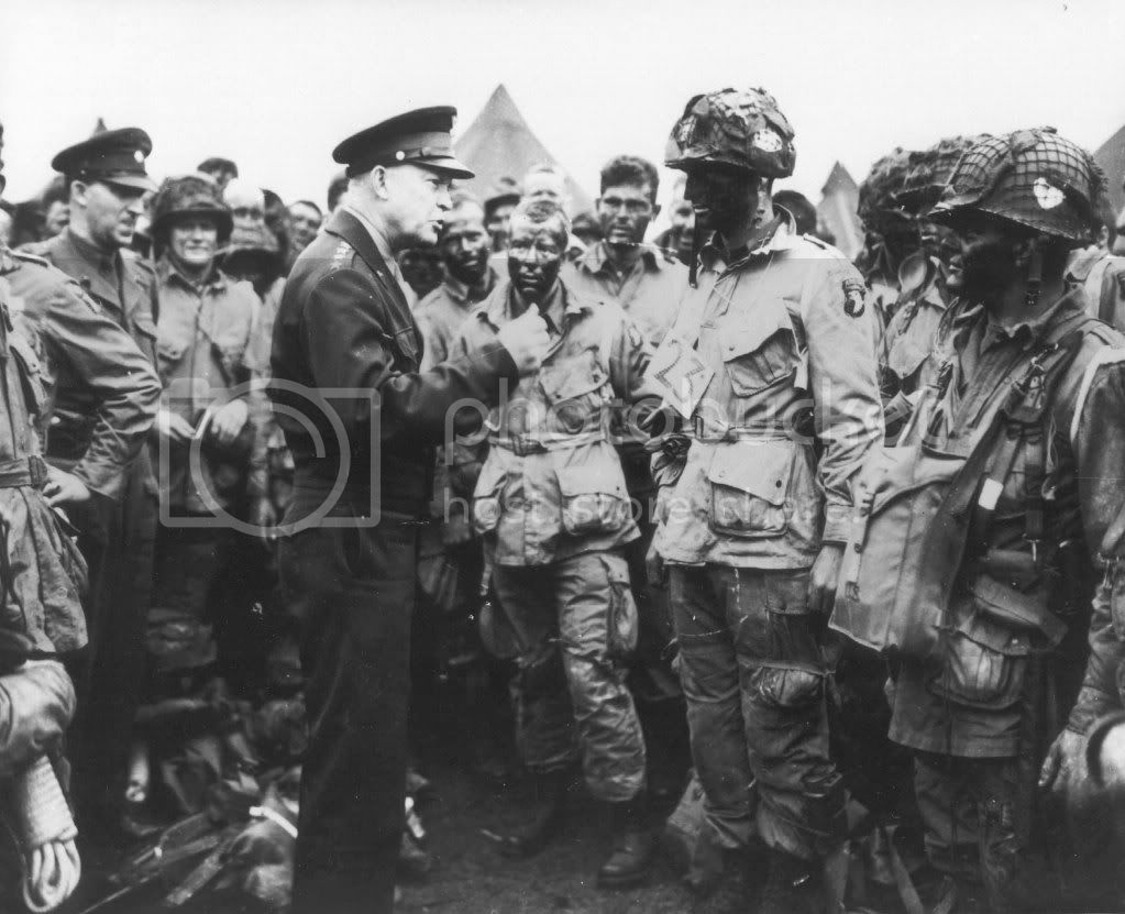 IKE TELLING THE SCREAMING EAGLES VICTORY OR NOTHING AT ALL BEFORE D-DAY